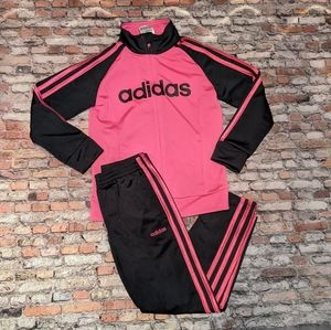 Adidas Girls 2 Piece Track Suit Size 6X